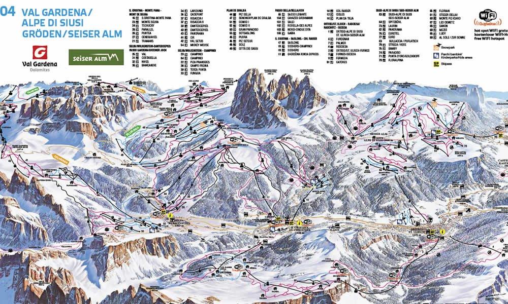 Skikarte Val Gardena