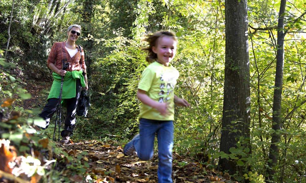 Wandern im Herbst in Kastelruth