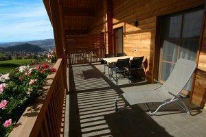 Balkon mit Ausblick Wohnung Eiche